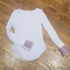 Free People Thermal with cuffed sleeves